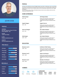 Biography Design Template - CV Resume Flyer (US Letter)