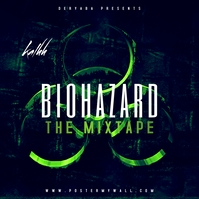 Biohazard Toxic Mixtape CD Cover Sampul Album template