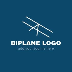 Biplane logo with minimal plane icon