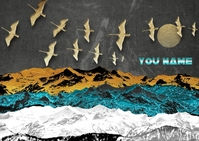Birds on the glacier Postcard template