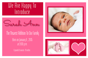 Baby Announcement Design Templates | PosterMyWall