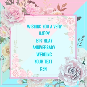 Birthday, Anniversary, Wedding, invitation
