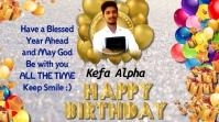 birthday, happy birthday, birthday party Digitale display (16:9) template