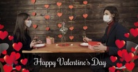 valentine,valentine's day, romantic, event Facebook 共享图片 template