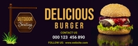 Delicious food,restaurant flyer,menu 横幅 2' × 6' template