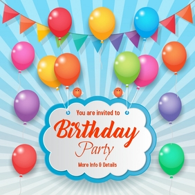 Birthday,event,party Instagram Post template