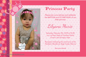 Birthday & Baptism invitation