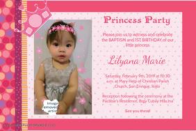 Birthday & Baptism invitation