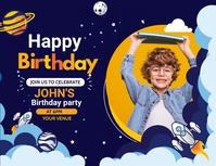 Birthday ,Birthday party, kids camp Løbeseddel (US Letter) template