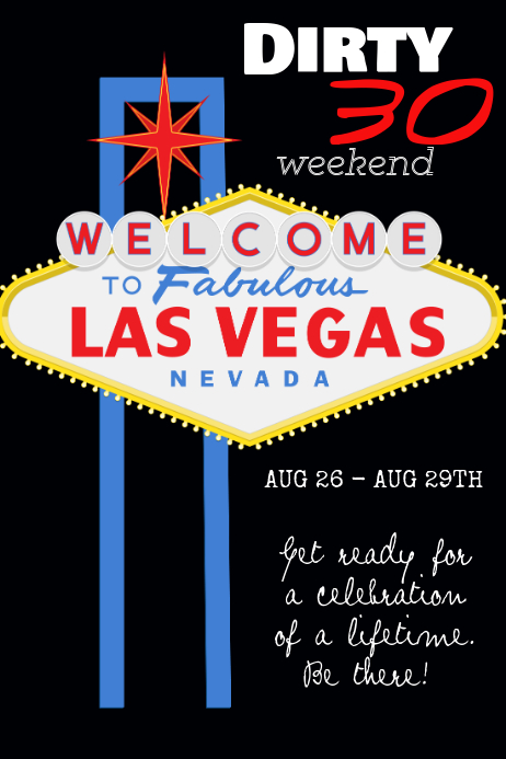 Birthday - Vegas Template | PosterMyWall