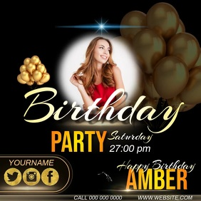 birthday ad instagram video template