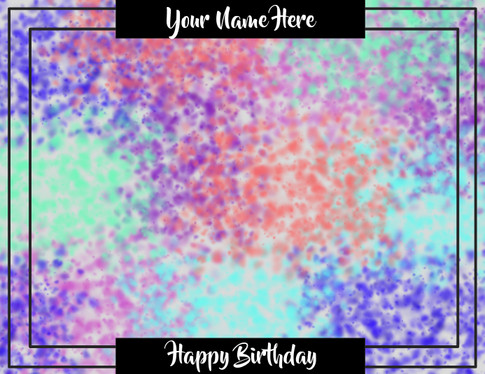 Birthday Background Template Postermywall