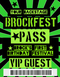 Birthday Backstage Pass