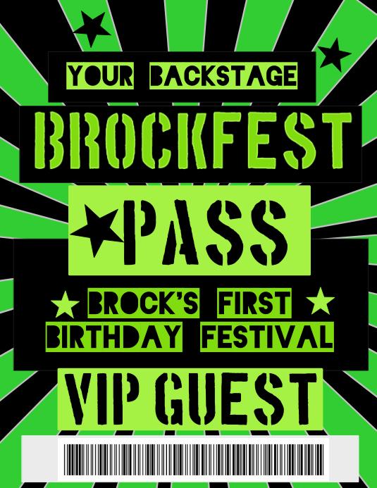 Birthday Backstage Pass