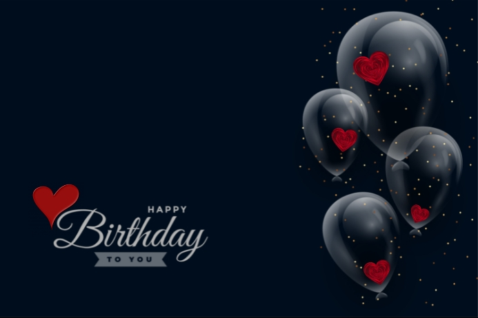 birthday balloon Etiqueta template