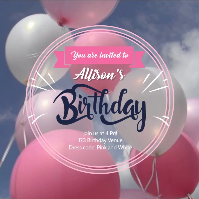 Birthday balloons video