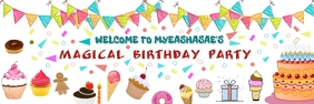 BIRTHDAY BANNER TEMPLATE Spanduk 2' × 6'