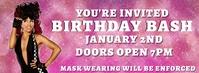 birthday bash invite Couverture Facebook template