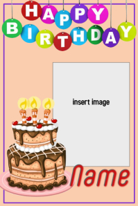 birthday template