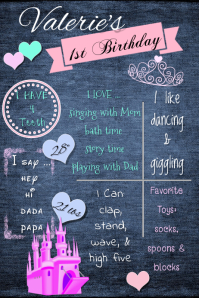 Birthday Girl Brag Poster