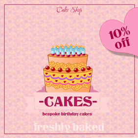 Customizable design templates for birthday cake postermywall birthday cake pronofoot35fo Choice Image