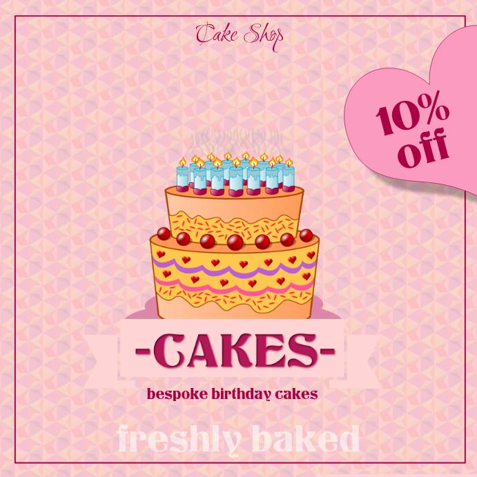 Awe Inspiring Birthday Cake Template Postermywall Funny Birthday Cards Online Inifodamsfinfo