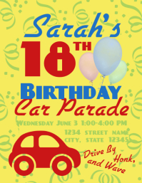 Birthday Car Parade Volante (Carta US) template
