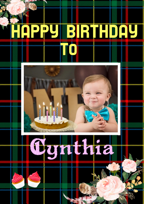 Birthday card design template,online greeting card template