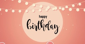 Birthday Card Facebook Shared Image template