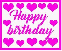 Birthday Card Mittelgroßes Rechteck template