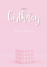 Birthday Card A4 template