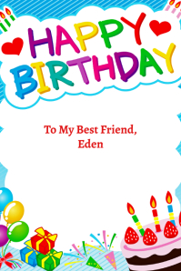 Birthday Card Poster template