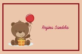Birthday card Etiqueta template