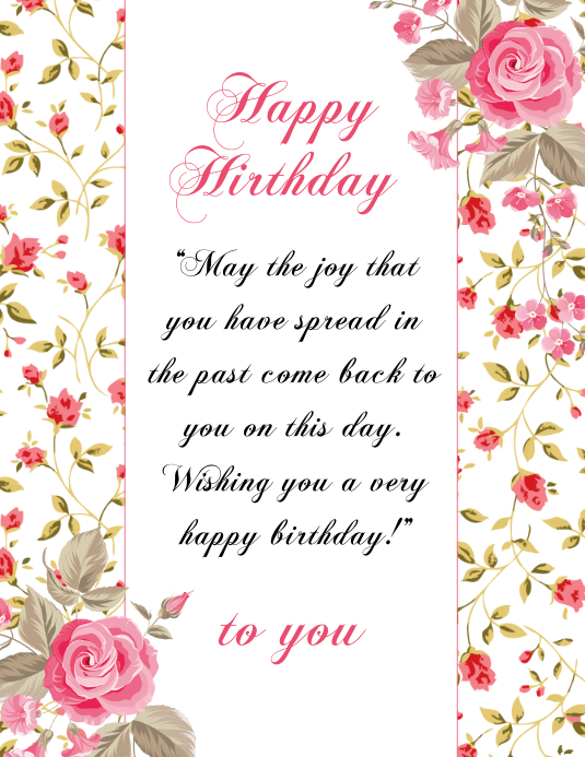 BIRTHDAY CARD Pamflet (VSA Brief) template