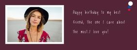 birthday card Foto Sampul Facebook template