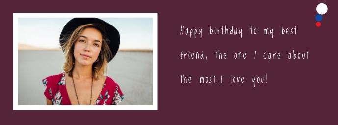 birthday card Facebook-omslagfoto template