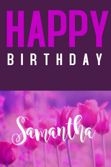 Birthday card flyer,greeting card template