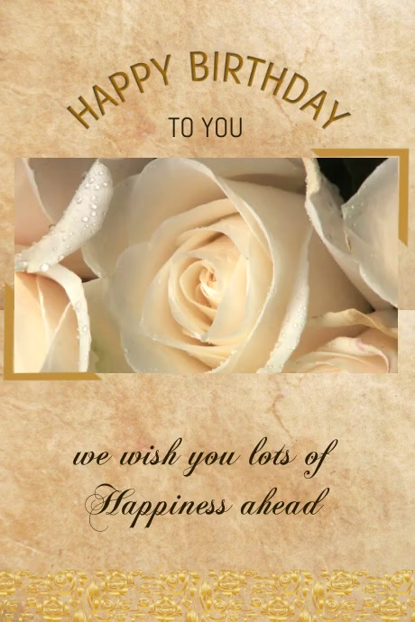 birthday card flyer.small business flyer Plakat template