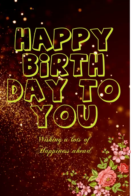 birthday card flyer.small business flyer