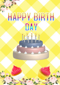 BIRTHDAY CARD TEMPLATE,EVENT FLYER
