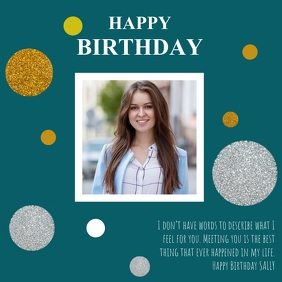 BIRTHDAY CARD TEMPLATE Instagram Post