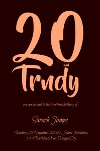 birthday card template Plakkaat