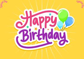 Birthday Card Template Открытка