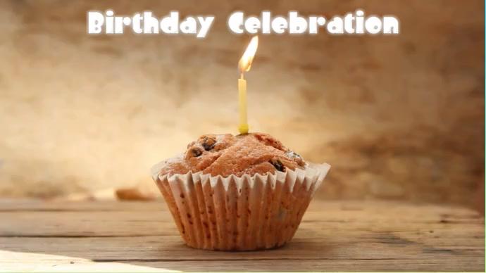 Birthday celebration Foto di copertina del canale YouTube template