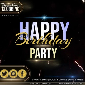 birthday club event ad instagram