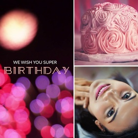 Birthday Collage Video Instagram Template