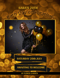 birthday design flyer