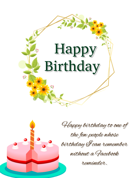 Birthday Flyer (format US Letter) template