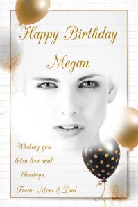 Birthday Plakat template