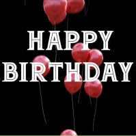 birthday Kwadrat (1:1) template